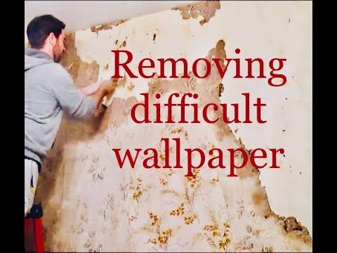 Removing difficult wallpaper & skim coating a plastered wall