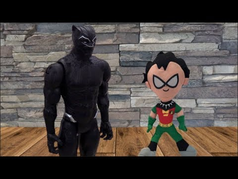 Teen Titans Go! Robin has Black Panther's Necklace