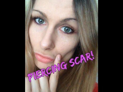My monroe piercing scar