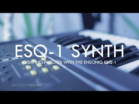 How to MAKE SOUNDS on the ENSONIQ ESQ-1 SYNTHESIZER