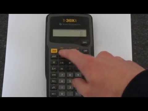 TI-30Xa: Trigonometry Functions