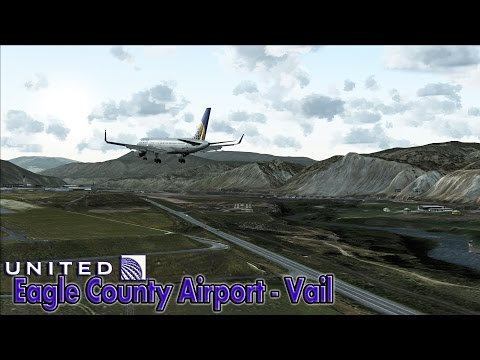 ✈ |FSX| United 757-200 Approach to Vail/Eagle County Airport