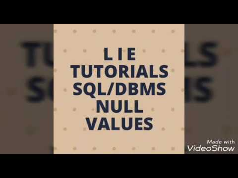 NULL VALUES || DBMS || SQL
