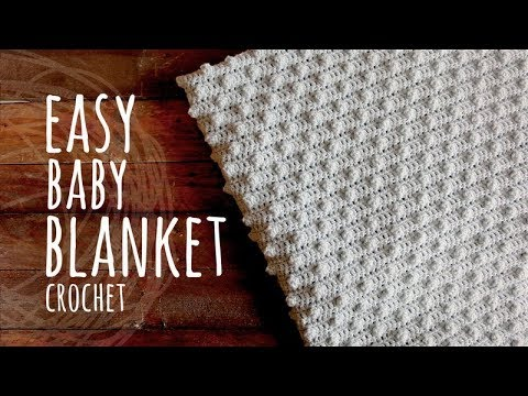 Tutorial Easy Baby Blanket Crochet