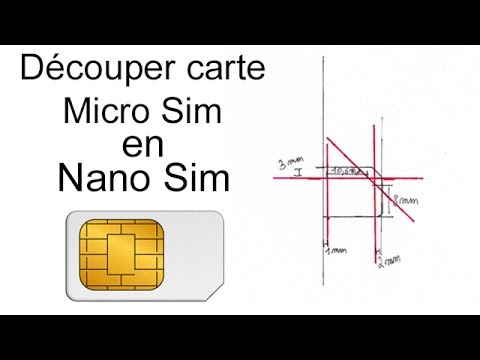 ✄ Découper carte Micro SIM en NANO Sim - tutoriel - iPhone 5 - 5S - 6 - 6 Plus - 7 - 8 - X - XR - XS