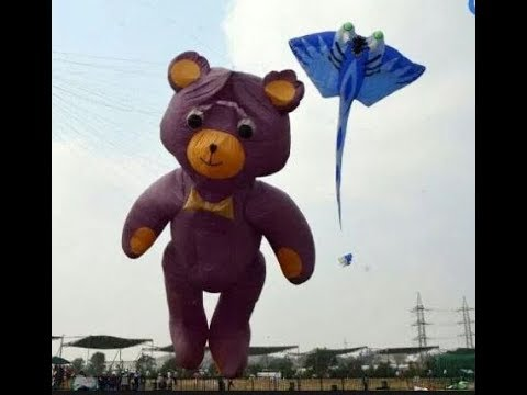 Teddy bear kite - Hyderabad Telangana festival