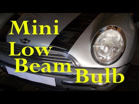 Mini low (dipped) headlight bulb change