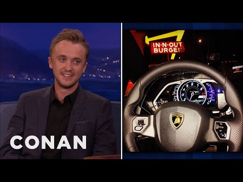 Tom Felton's Lamborghini In-n-Out Trip