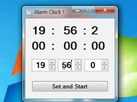 Vb.net 2008 Alarm Clock Very simple Part 1/2