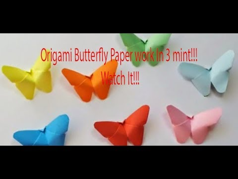 How To Make an Easy Origami Butterfly-Easy Paper Butterfly Origami ||   OrigamiFun Studio