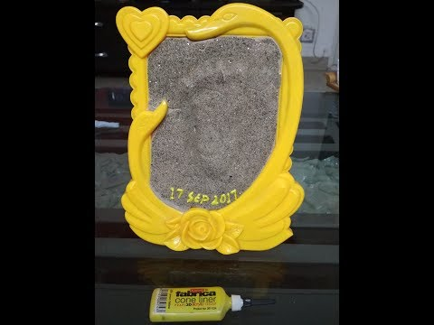 Super cool Baby Handprint/ Footprint Keepsake DIY