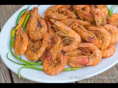 Crispy Nilasing Na Hipon (Wine Marinated Crispy Shrimp) -Panlasang Pinoy