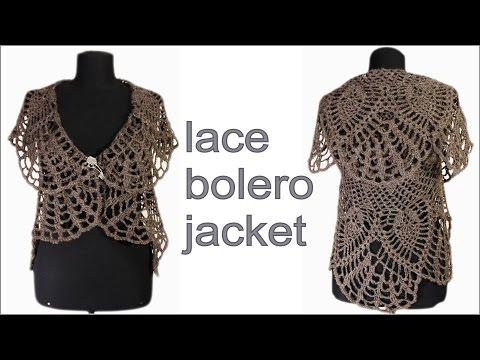 How to crochet lace bolero jacket PART 2