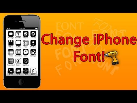 (iOS 7 - 2014) How to CHANGE Font on iPhone - iPad Mini - iPad - iPod touch