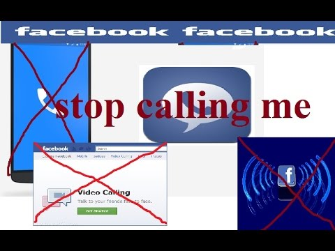 How to disable video/voice calling on Facebook