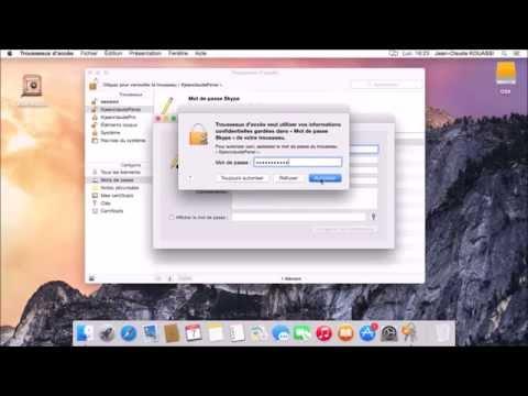 Chiffrement par KeyChain Access Program (Trouseaux d'accès) sous OS X (Yosemite)
