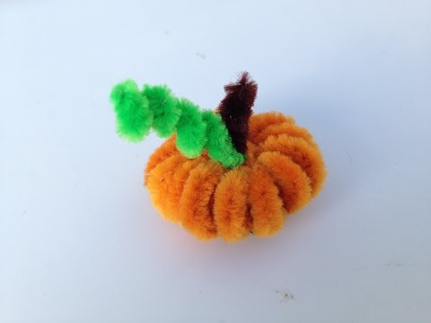 How to make a Pipe Cleaner Pumpkin