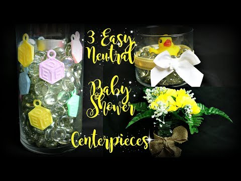 3 Easy Neutral Baby Shower Centerpieces