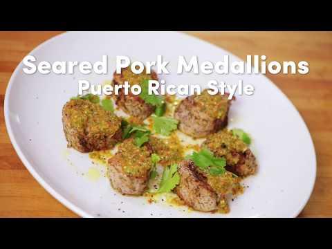 Pork Medallions Puerto Rican Style