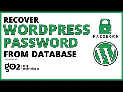 Recover WordPress Password From Database EASY