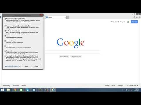 How to delete search history in Internet Explorer 11
