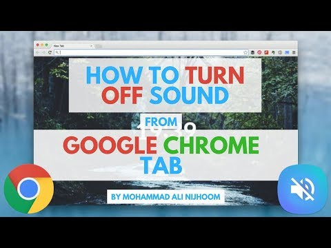 How To Turn Off Sound  From Google Chrome Tab