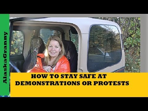 Demonstration or Political Rally - How to Stay Safe