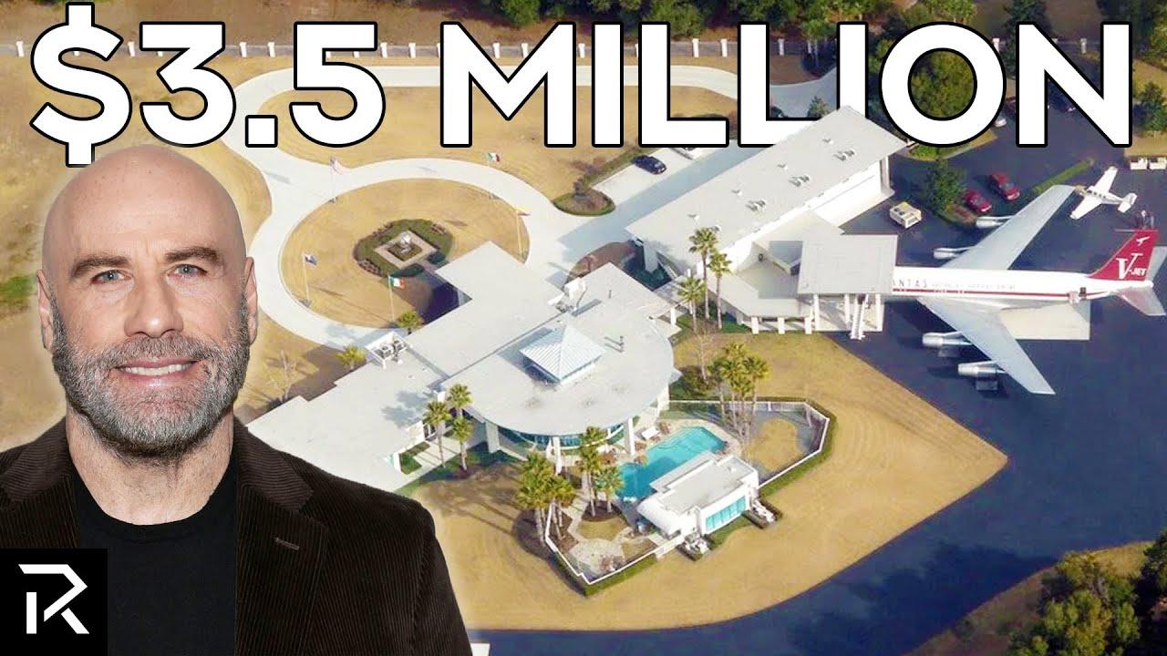 A Look Inside John Travolta's Airport Mansion