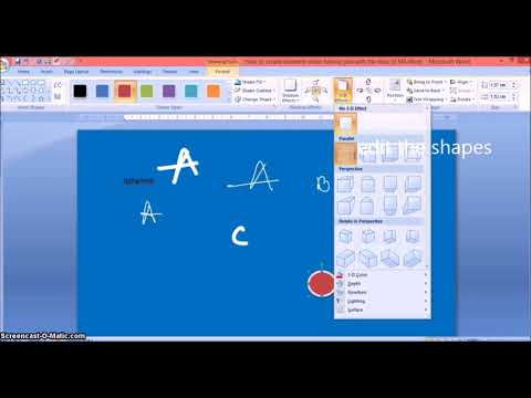 Video - How to create an excellent video tutorial just by using MS Word.