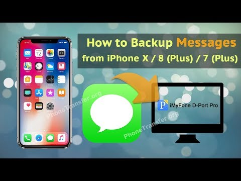 How to Backup Messages from iPhone X / 8 (Plus) / 7 (Plus)