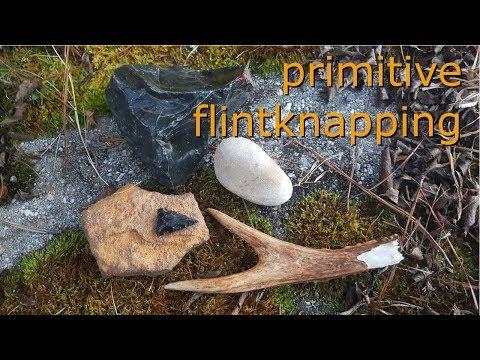 primitive abo flintknapping