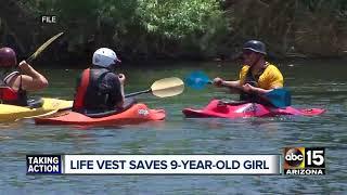 Life vest saves girl on the Salt River