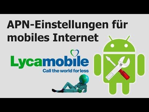 Lycamobile: APN-Einstellungen für mobiles Internet