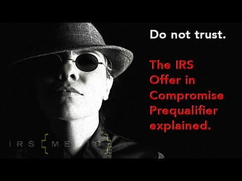IRS Offer in Compromise Pre-Qualifier
