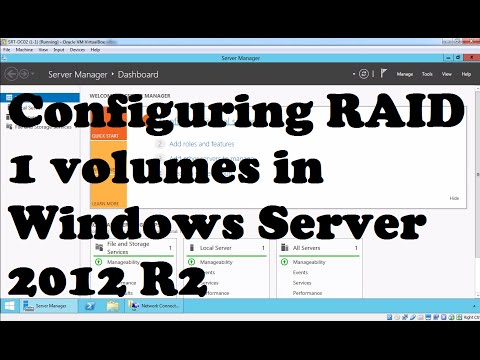 Configuring RAID 1 volumes in Windows Server 2012 R2