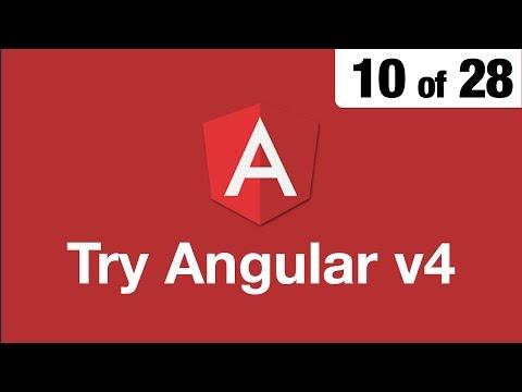 Try Angular v4 // 10 of 28 // Pipes & Custom Pipes