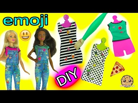 Create your Own Barbie Doll Fashion D.I.Y. Emoji Style Dolls Super Easy Craft Set