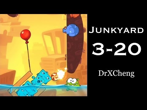 Cut the Rope 2 Walkthrough - Junkyard 3-20 - 3 Stars + Medal [HD]