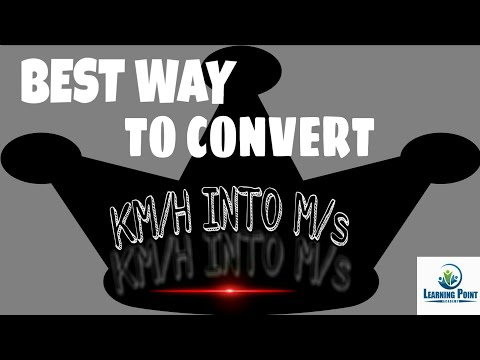 How to convert km/h into m /s