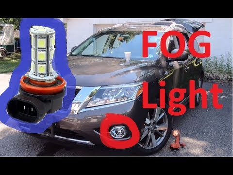 How to replace Fog Light bulb on 13-20 Nissan pathfinder 2015 2016 2017 2018 2019
