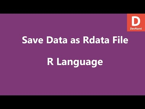 R Programming Save Data as rdata file