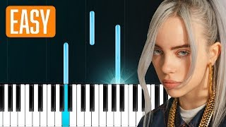 """Billie Eilish - """"lovely"""" (with Khalid) 100% EASY PIANO TUTORIAL"""