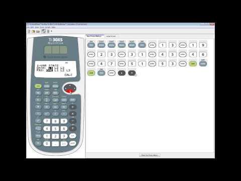 TI-30XS MultiView - Statistics - Quartiles