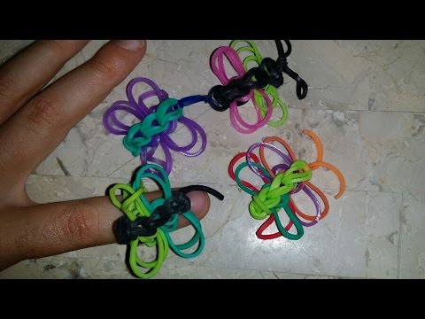 RAINBOW LOOM BUTTERFLY RING - How to Make