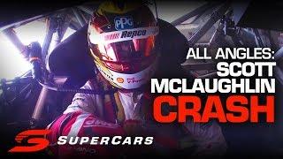 ONBOARD: Scott McLaughlin's car killing crash at the Gold Coast 600 | Supercars Championship 2019
