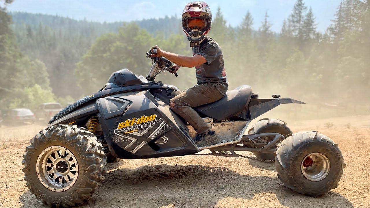 Building a 165HP Sport Quad! 1000cc 2 Stroke Snowmobile!