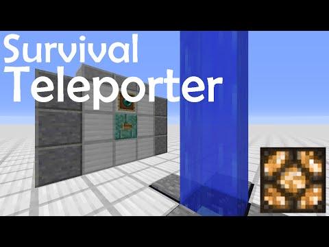 Minecraft Tutorial - Survival Teleporter - Survival Friendly