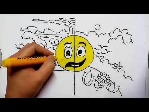Save earth from global warming drawing || how to draw earth day drawing poster