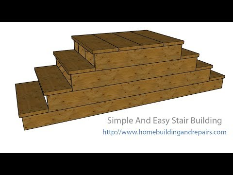 Three-Step Double Stairway Going Right or Left – Make It Yourself
