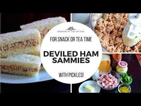 1-Minute Video! DEVILED HAM Sandwiches!
